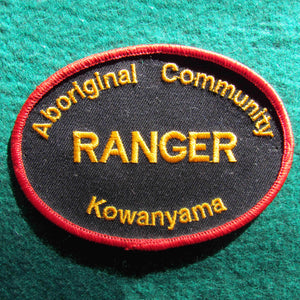 Australian Aboriginall Community Ranger Shoulder Patch - Kowanyama District - Cape York Peninsula Queensland