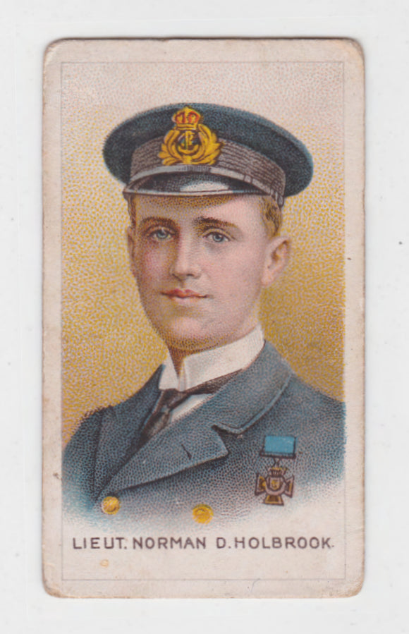 Lieut Norman D Holbrook Cigarette Card Victoria Cross Heroes Series #13