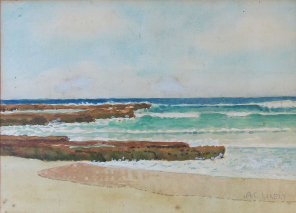 A C Likely Watercolour Seascape