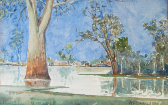 A C Likely Watercolour Bush Scene