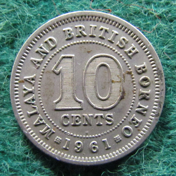 British Borneo 1961 Ten Cent Queen Elizabeth II Coin