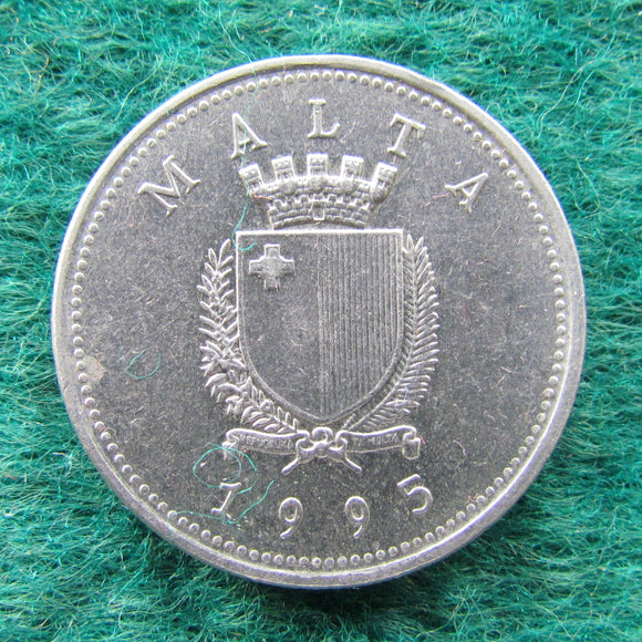 Maltese 1995 10 Cent Coin - Circulated