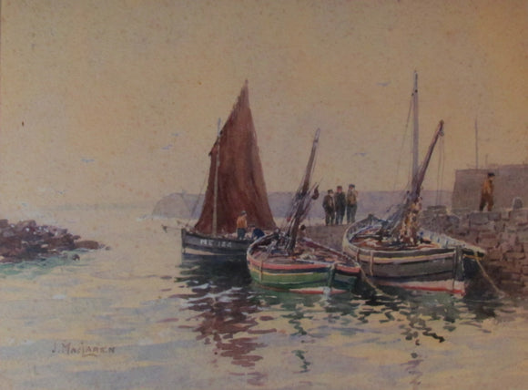 James MacLaren Watercolour Fishing Boats 1