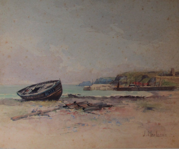 James MacLaren Watercolour Fishing Boats 3