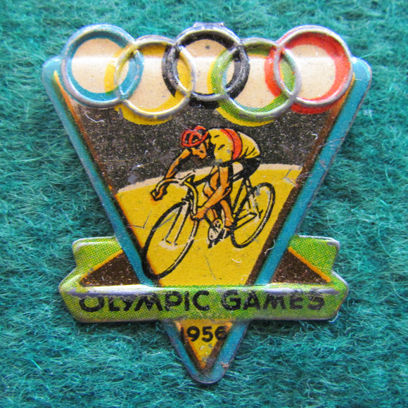Australian Melbourne 1956 Olympic Cycling Tin Badge