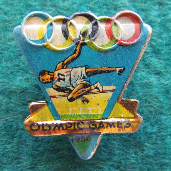 Australian Melbourne 1956 Olympic Games High Jump Tin Badge