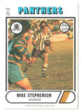 Scanlens 1976 NRL Football Card 115 of 132 - Mike Stephenson - Panthers