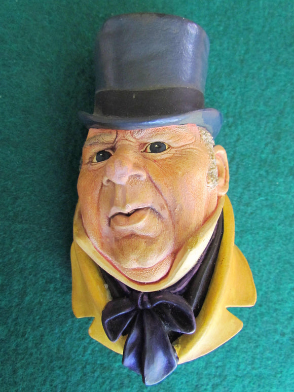 Bossons Chalkware Cast Wall Hanging Mr Micawber