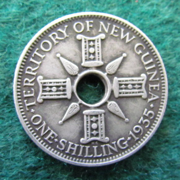 New Guinea 1935 1 One Shilling Coin