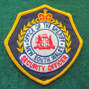 New South Wales Office Of The Sheriff Shoulder Patch - Security Officer