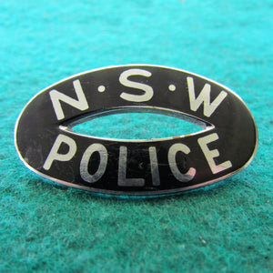 NSW Police Shoulder Badge - Black Enamel
