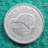 New Zealand 1949 Florin King George VI Coin