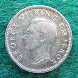 New Zealand 1942 Sixpence  King George VI Coin
