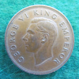 New Zealand 1944 Penny King George VI Coin