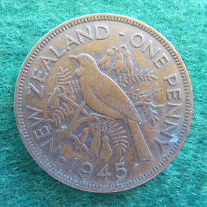 New Zealand 1945 Penny King George VI Coin