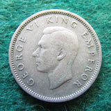 New Zealand 1945 Sixpence  King George VI Coin