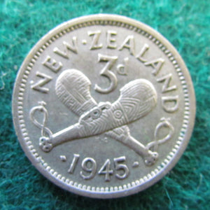 New Zealand 1945 Threepence King George VI Coin
