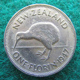 New Zealand 1947 Florin King George VI Coin