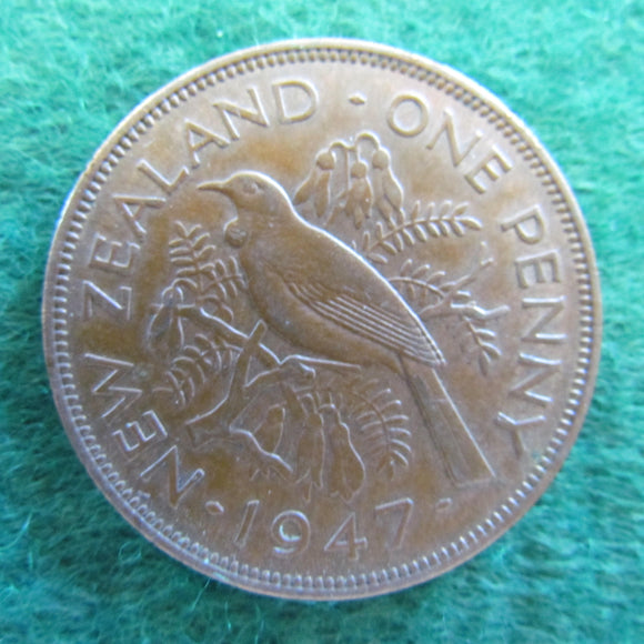 New Zealand 1947 Penny King George VI Coin