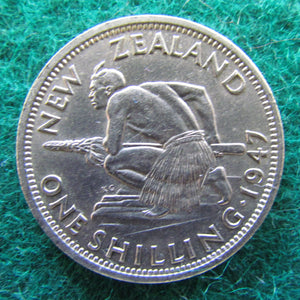 New Zealand 1947 Shilling King George VI Coin