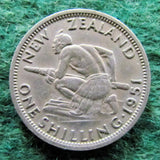 New Zealand 1951 Shilling King George VI Coin