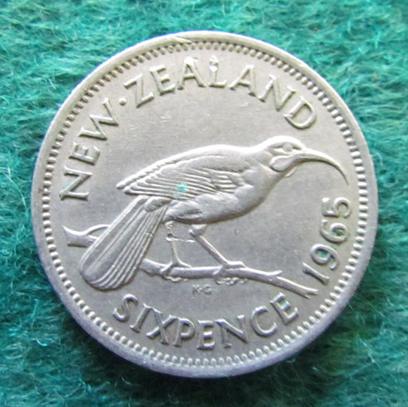 New Zealand 1965 Sixpence Queen Elizabeth II Coin
