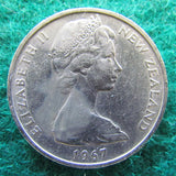 New Zealand 1967 10 Cent Queen Elizabeth Coin