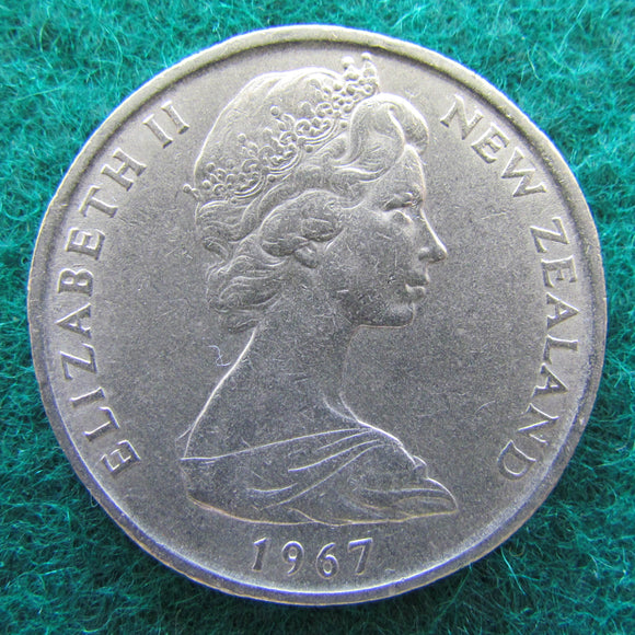 New Zealand 1967 50 Cent Queen Elizabeth Coin