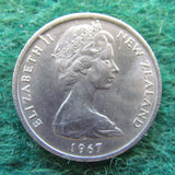 New Zealand 1967 5 Cent Queen Elizabeth II Coin