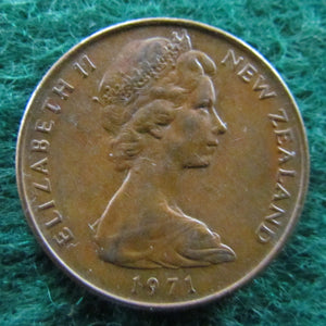 New Zealand 1971 2 Cent Queen Elizabeth II Coin