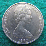 New Zealand 1972 50 Cent Queen Elizabeth Coin