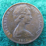 New Zealand 1974 2 Cent Queen Elizabeth II Coin