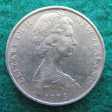 New Zealand 1975 50 Cent Queen Elizabeth Coin