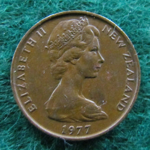 New Zealand 1977 2 Cent Queen Elizabeth II Coin