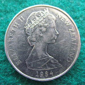 New Zealand 1984 50 Cent Queen Elizabeth Coin