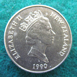 New Zealand 1990 One Dollar Queen Elizabeth Coin