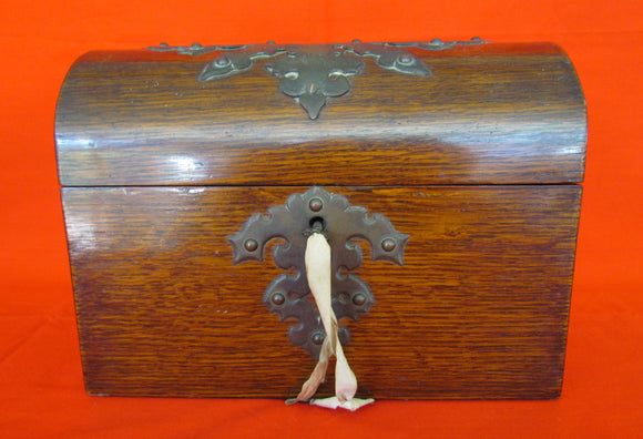 Oak Dome Top Desk Compendium With Letter Partitions c1890