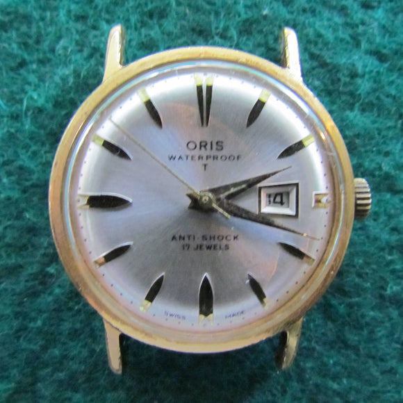 Oris Mens Mechancal Calendar Watch c1960 - Gold Plated