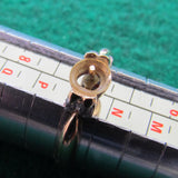 14ct Gold Pearl & Diamond Shouldered Dress Ring (Pearl Missing) 2.39gms