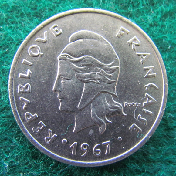 French Polynesie 1967 20 Franc Coin