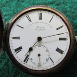 Lancashire Watch Co. Prescot Full Hunter Pocket Crown Wind Made pre 1910 Parts Only