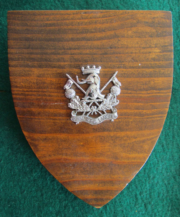 Royal NSW Lancers Wall Plaque