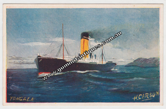 Postcard SS Yongala by H Carson Campbell Series No 1 c1908