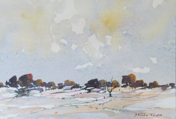 Sheila Todd Watercolour 'The Village'