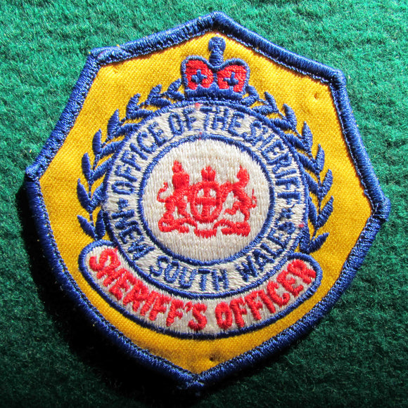 New South Wales Office Of The Sheriff Shoulder Patch - Sheriff's Officer