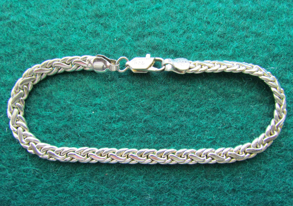 925 Sterling Silver Bracelet With Crab Claw Clasp