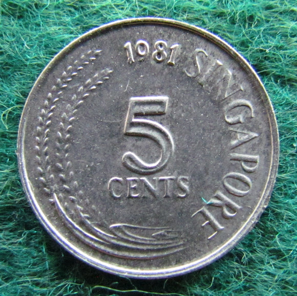 Singapore 1981 5 Cent Coin - Circulated