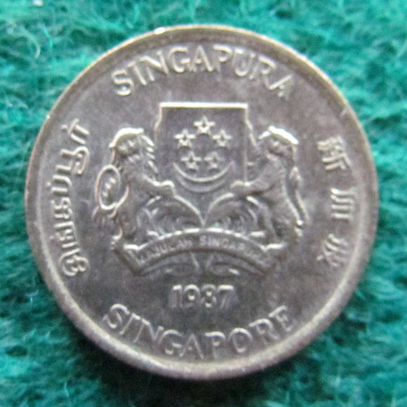 Singapore 1987 5 Cent Coin - Circulated