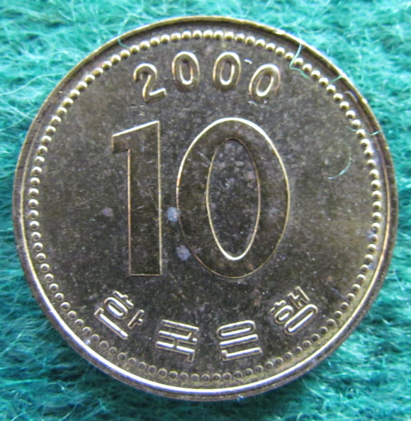South Korea 2000 10 Won Coin - Circulated
