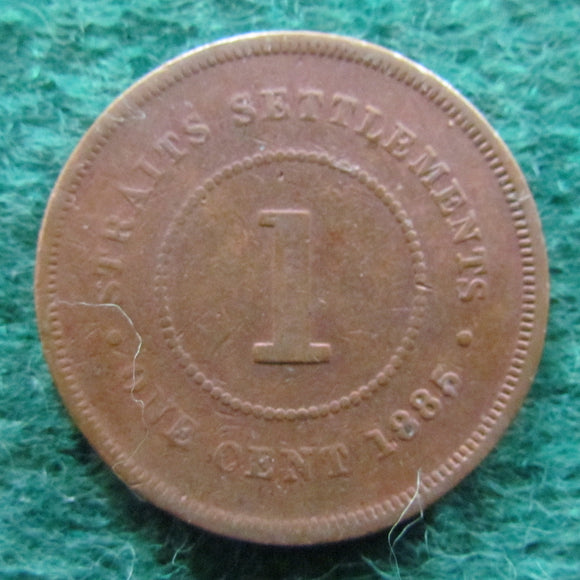 Straits Settlements 1885 1 Cent Queen Victoria Coin